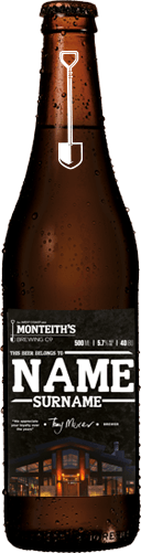 Name on a Monteith's Bottle